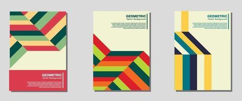 nuevo cartel retro suizo con formas geométricas vector