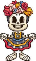 Colorful Mexican catrina skeleton