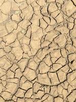 Top view closeup weathered texture and background of arid cracked ground photo
