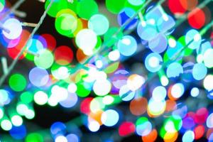 Abstract background and texture of bokeh glittering lights photo