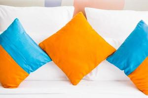 Pillows on a bed photo