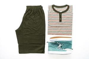 T-shirt with pants and shoes photo