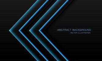Abstract blue light neon arrow direction on black with blank space design modern futuristic technology background vector illustration.