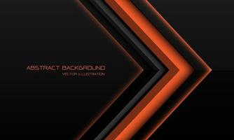 Abstract orange metallic arrow direction on black with blank space design modern futuristic technology background vector illustration.