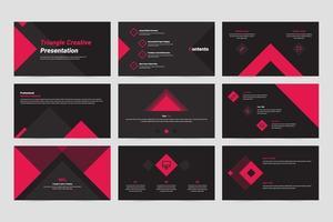 plantilla de presentación de diapositiva creativa triangular vector