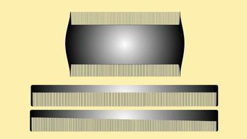 Three Hair Comb Design vector