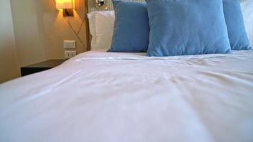 Comfortable Pillows on Bed video