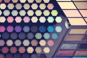 Beautiful Eye shadow and lip gloss cosmetic photo