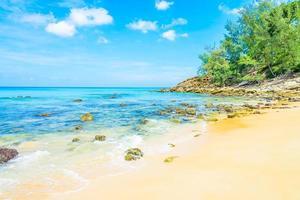 Tropical sea beach photo