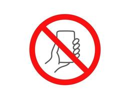 Dont use smartphone sign. Vector concept