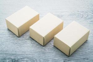 maqueta de caja marrón