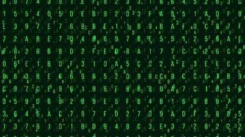 Random Green Letters and Numbers for Network Security or Hacker Themes
