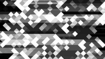 fundo de padrão de grade em mosaico digital preto e branco abstrato