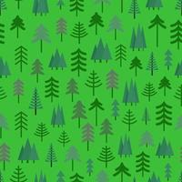 Seamless pattern with green trees vector