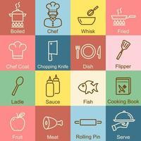 cooking outline design vector