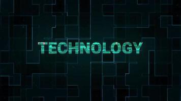 tecnología de palabra con líneas digitales de alta tecnología.