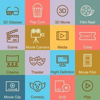movie outline design vector