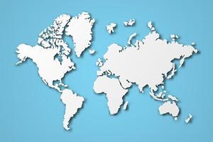 arte de papel del mapa del mundo vector