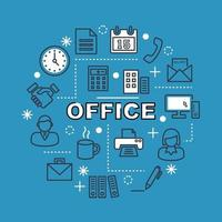 office minimal outline icons