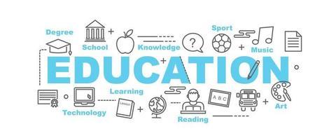 banner de vector de educación