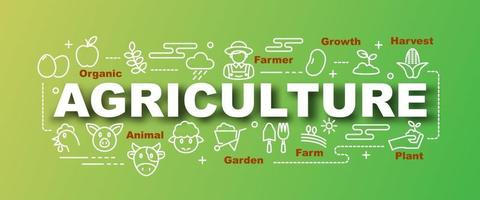 agriculture vector trendy banner