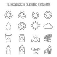 reciclar iconos de línea vector