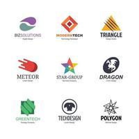 conjunto de diseño de logotipo abstracto vector