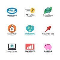 conjunto de diseño de logotipo de empresa vector