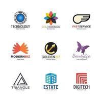 abstract logo design set vector