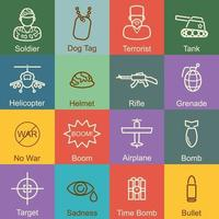 war outline design vector