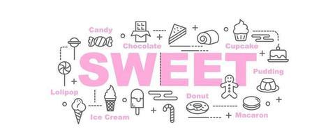 banner de vector dulce