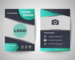 abstract flyer layout template vector