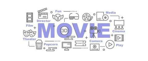 movie vector banner