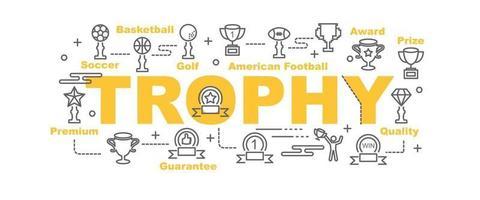 trophy vector banner