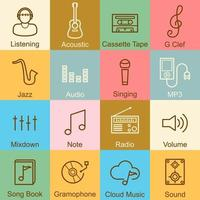 music outline design vector
