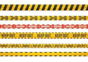 Warning tape set vector