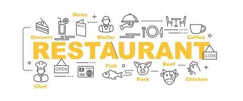 banner de vector de restaurante
