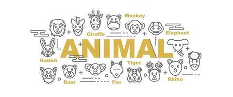 banner de vector de animal salvaje