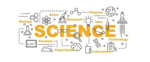 science vector banner