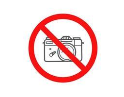 no use la cámara. vector de señal aislado en blanco