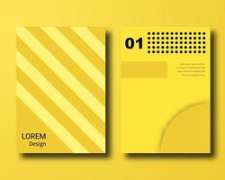 yellow abstract material design cover vector