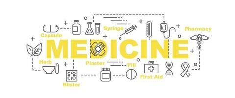 banner de vector de medicina