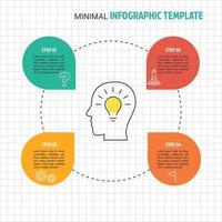 infografía mínima de negocios vector