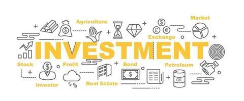 banner de vector de inversión