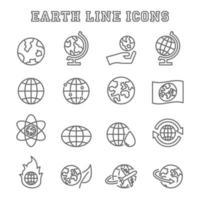 iconos de linea de tierra vector