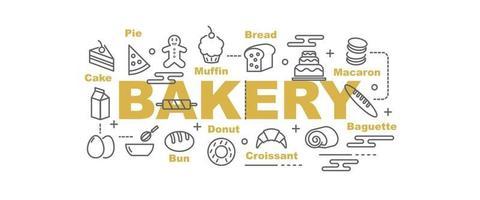 banner de vector de panadería