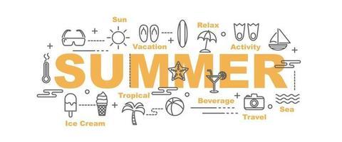 summer vector banner