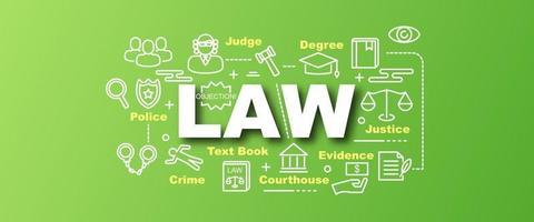 law vector trendy banner