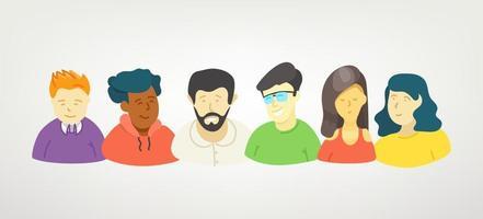 Cute vector character set. Men and women