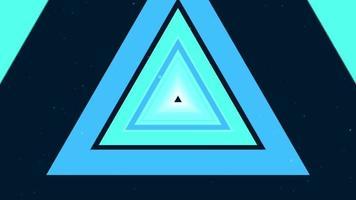 fundo de túnel de triângulo multicolorido